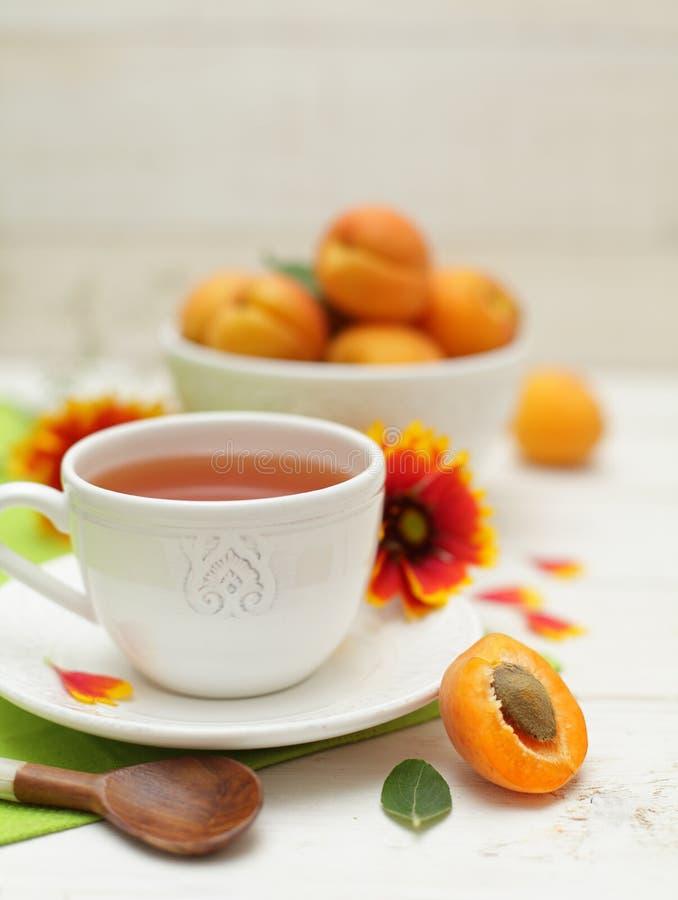 Desayuno sano - fruta y té del verano fotografía de archivo libre de regalías