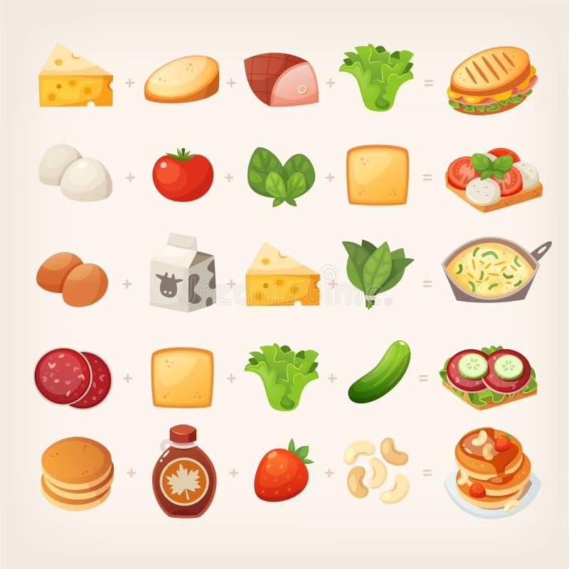 Desayuno sano mix_2 ilustración del vector