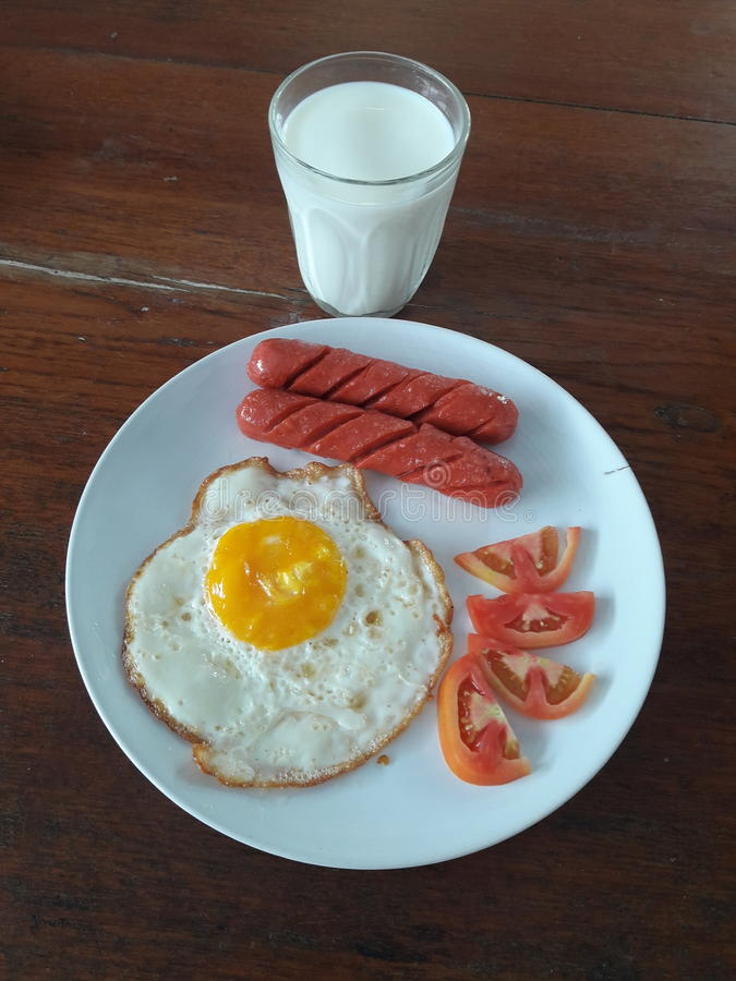 Desayuno simple fotos de archivo