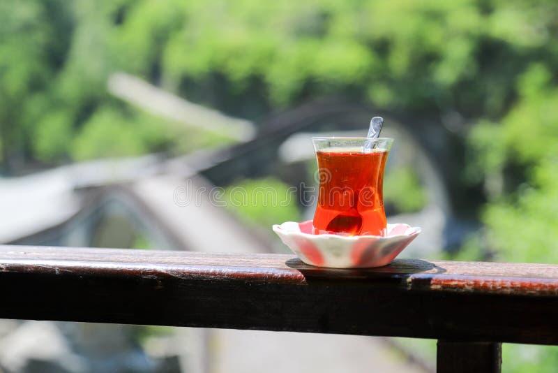 Desayuno turco tradicional y té turco fotografía de archivo