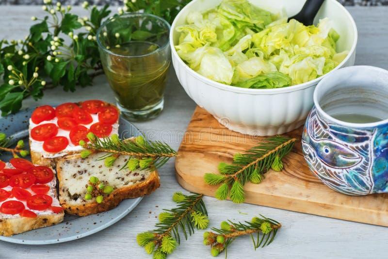 Desayuno vegetal libre del gluten sano fotos de archivo libres de regalías