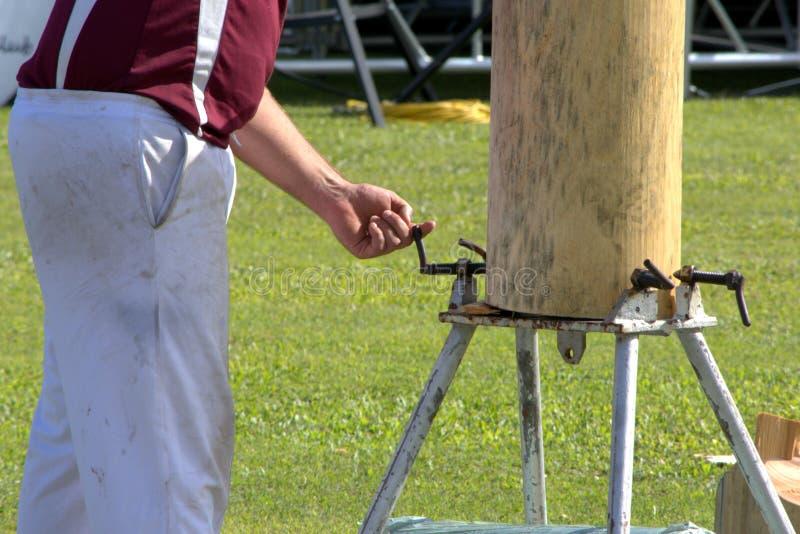 Desbastamento de madeira imagem de stock