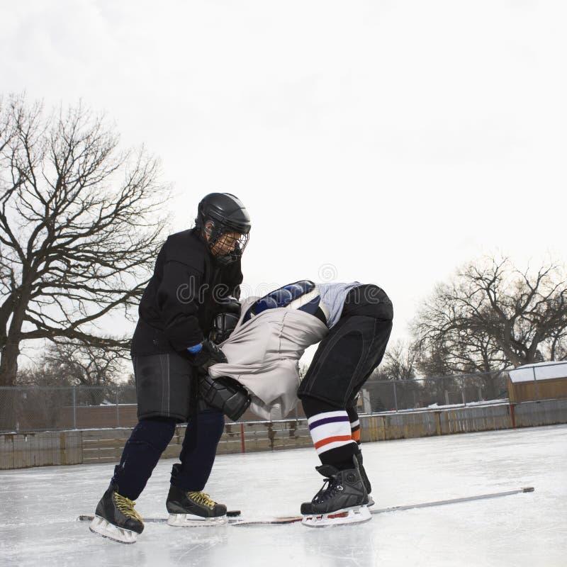 Desbaste del hockey sobre hielo. imagenes de archivo