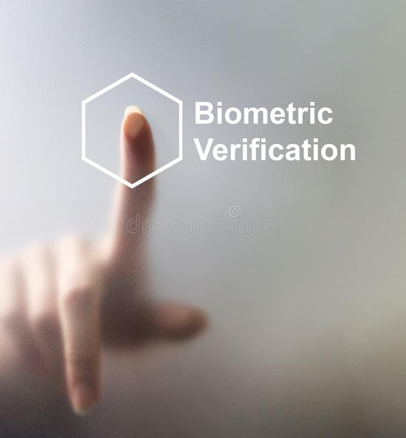 Desbloqueando los dispositivos con la huella dactilar explore con el securit de la biométrica fotografía de archivo libre de regalías