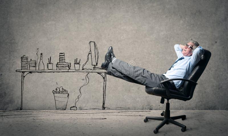Descansando o pé ilustração royalty free
