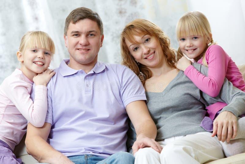 Descanso da família fotos de stock