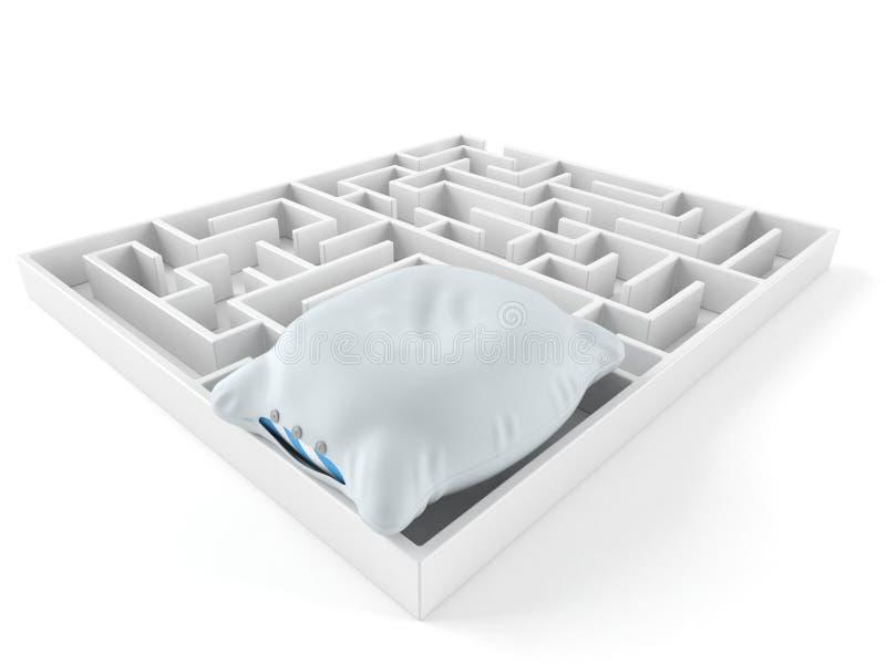 Descanso dentro do labirinto ilustração stock