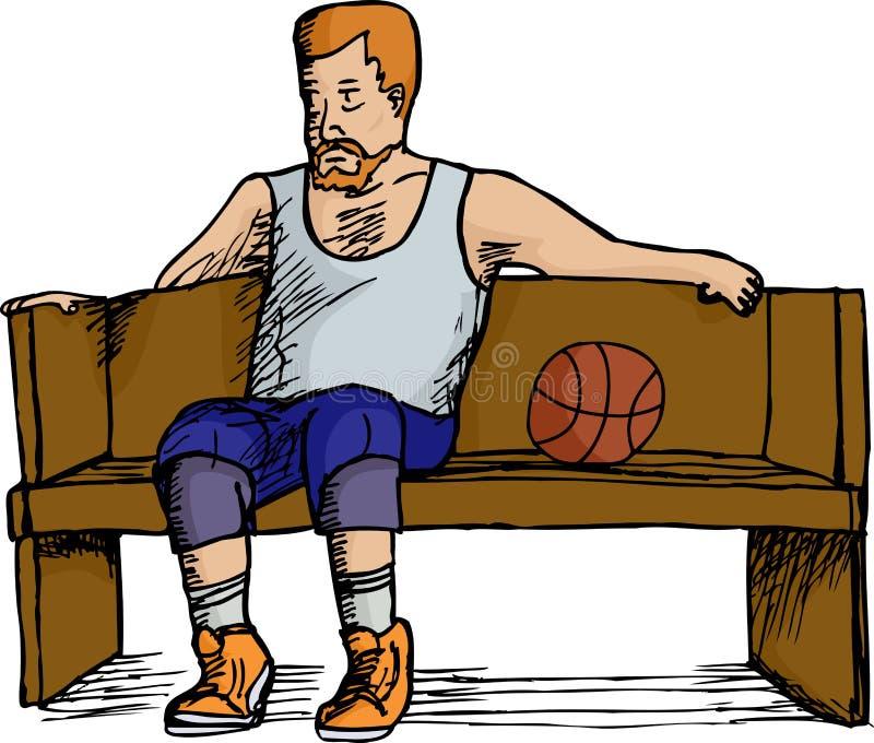 Descanso do jogador de basquetebol ilustração royalty free