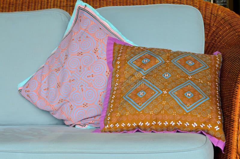 Descanso feito a mão tailandês do algodão imagens de stock