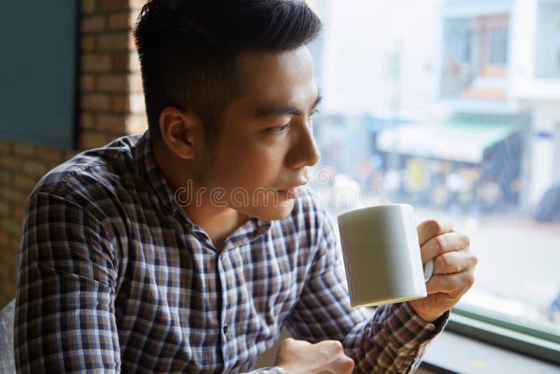 Descanso para tomar café foto de archivo