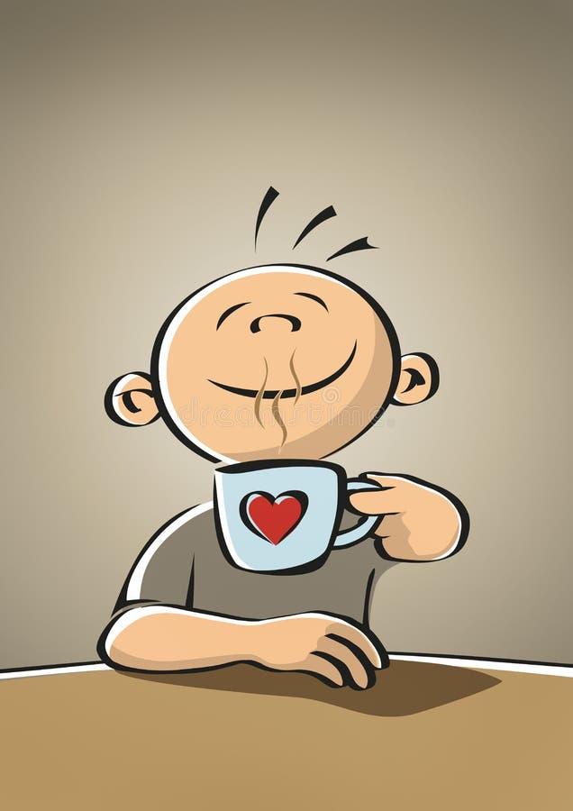 Descanso para tomar café ilustración del vector