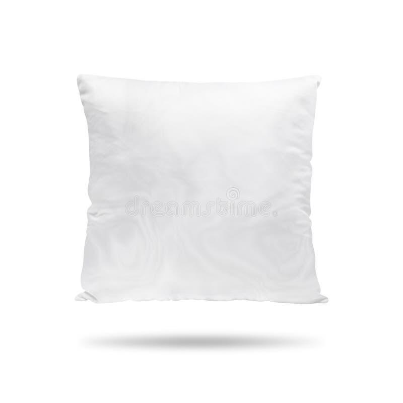 Descanso vazio isolado no fundo branco Coxim vazio para seu projeto Objeto dos trajetos de grampeamento ilustração stock
