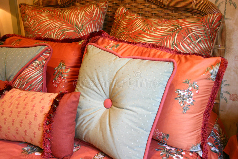 Descansos de cama Textured fotografia de stock royalty free