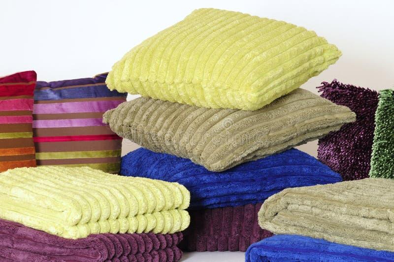 Descansos e toalhas fotografia de stock