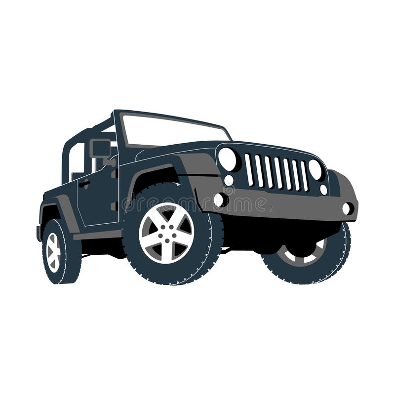 Descapotable, coche, campo a través, jeep, SUV libre illustration