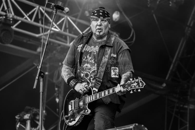 Descarga, concierto vivo 2016 de Roberts de Terence 'Tezz fotografía de archivo