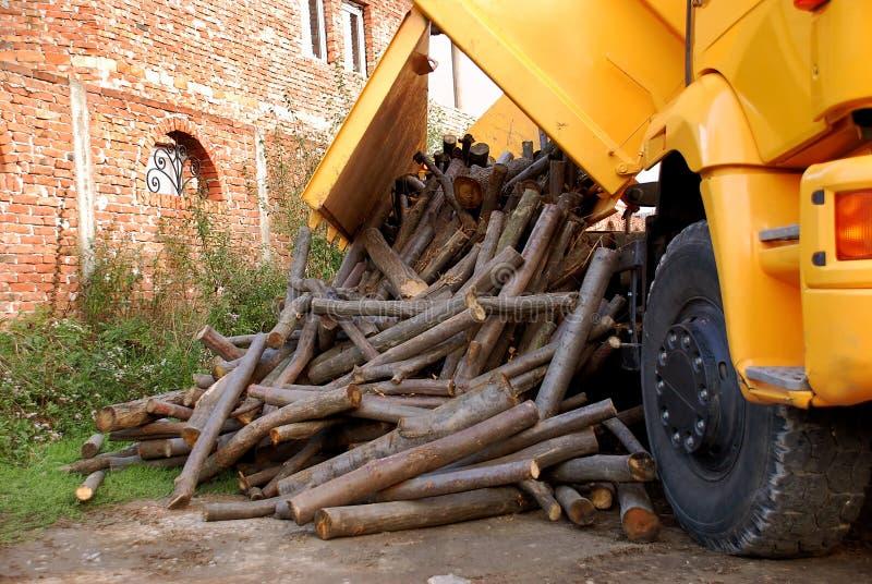 Descarga de la madera