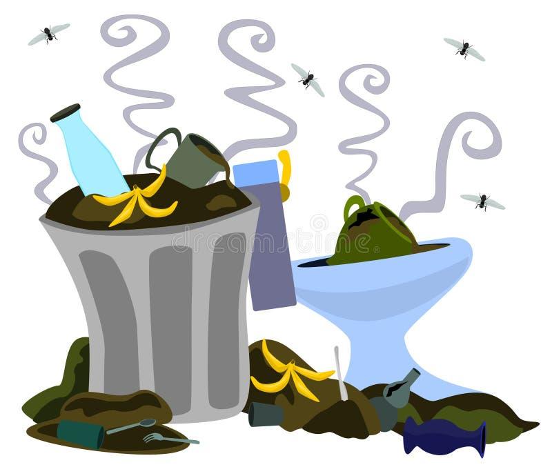 Descarga de lixo ilustração do vetor