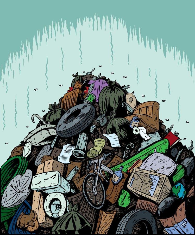 Descarga de lixo ilustração royalty free