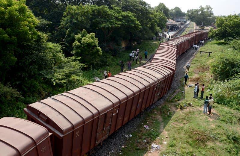 Descarrilamiento de tren fotografía de archivo