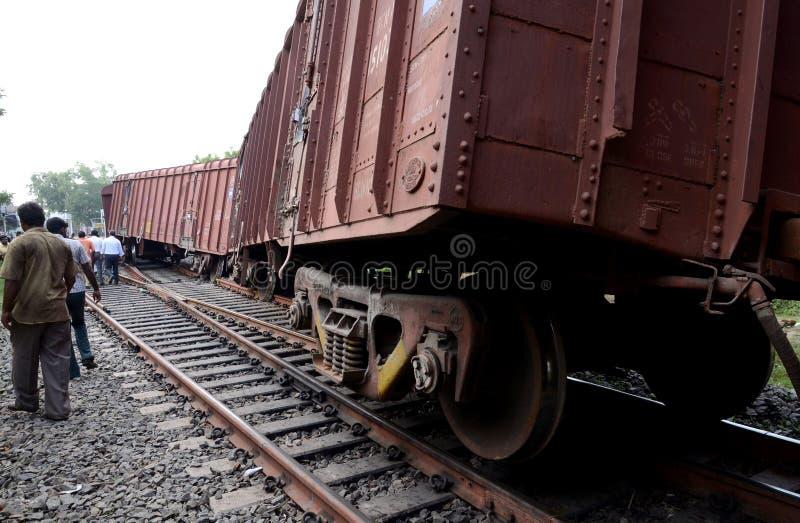 Descarrilamiento de tren imagen de archivo