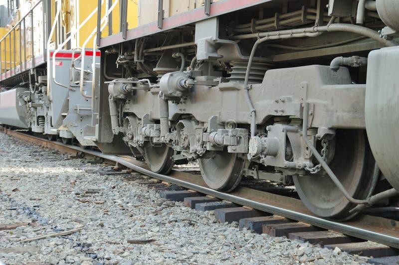 Descarrilamiento locomotor fotografía de archivo