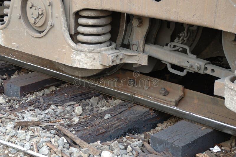 Descarrilamiento locomotor imagenes de archivo