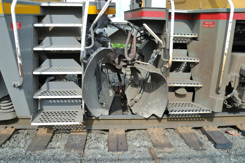 Descarrilamiento locomotor foto de archivo libre de regalías