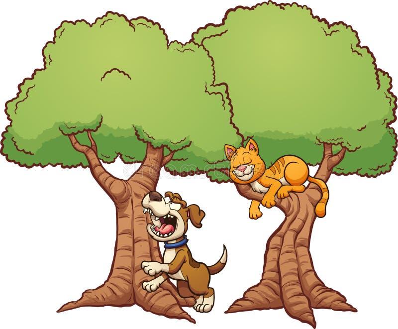 Descascamento acima da árvore errada ilustração do vetor