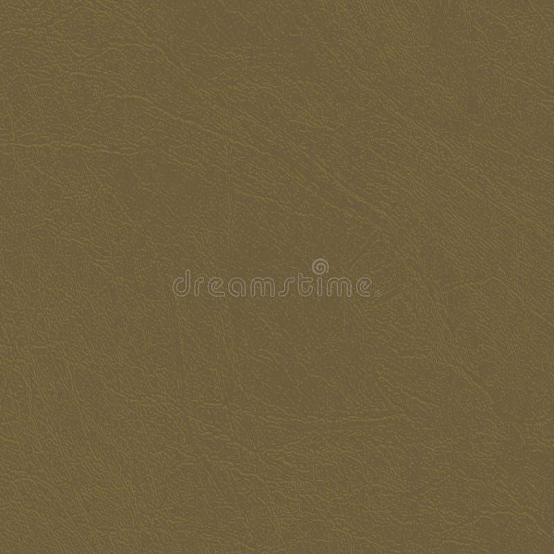 Descasque o fundo de couro da textura, o natural ou do falso, máscara da terra silenciado do verde ilustração stock