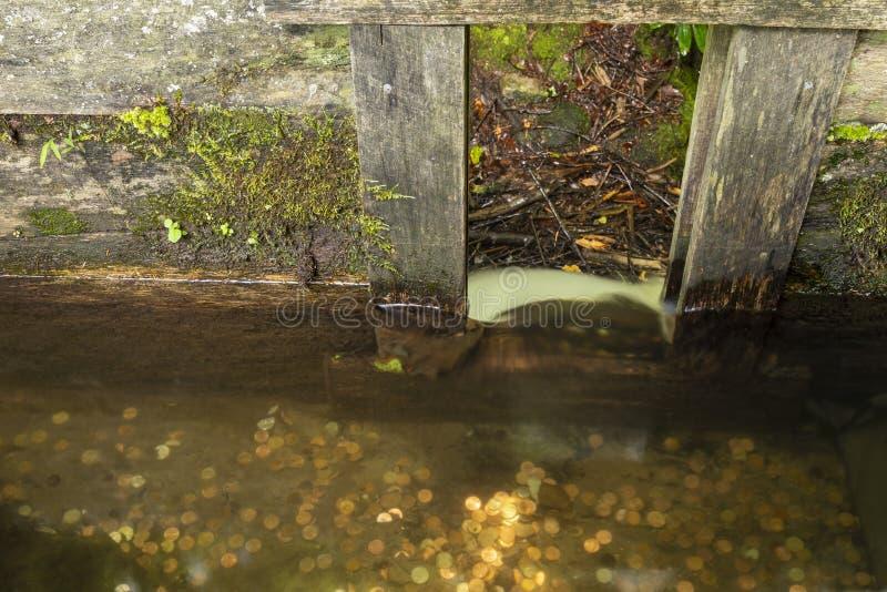 Descendeur de canalisation de moulin de blé à moudre photographie stock