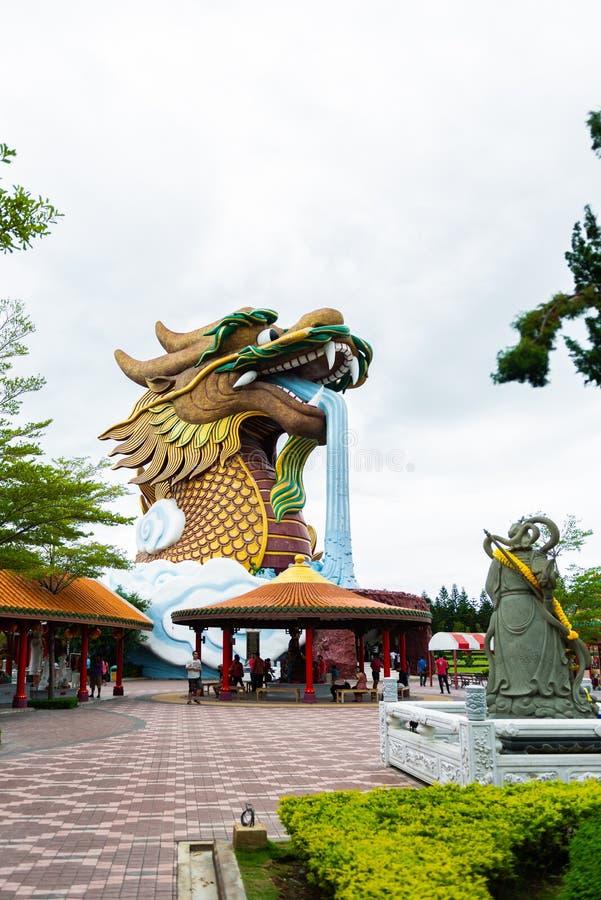 Descendientes museo, Suphanburi, Tailandia del dragón fotografía de archivo