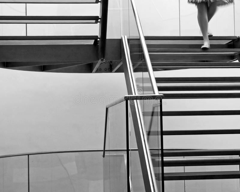 Descending Stairs stock photography