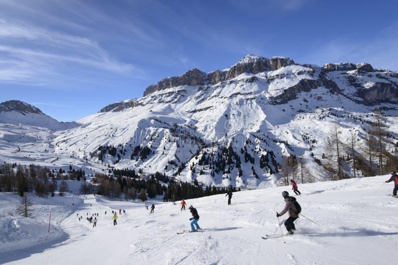 Descending toward Pordoi pass, Arabba royalty free stock photos