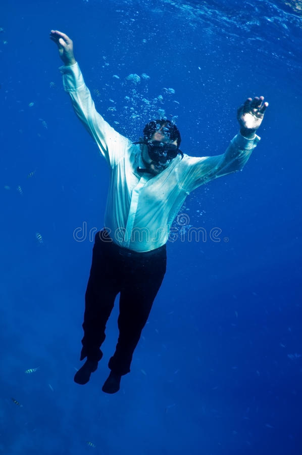 Descends into depths royalty free stock image