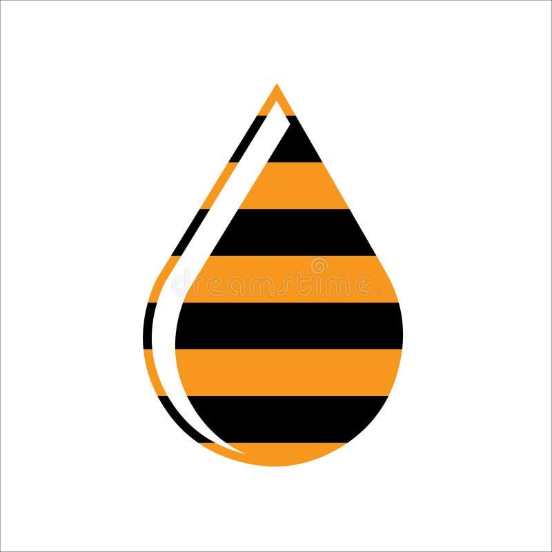 Descenso de la abeja imagen de archivo libre de regalías
