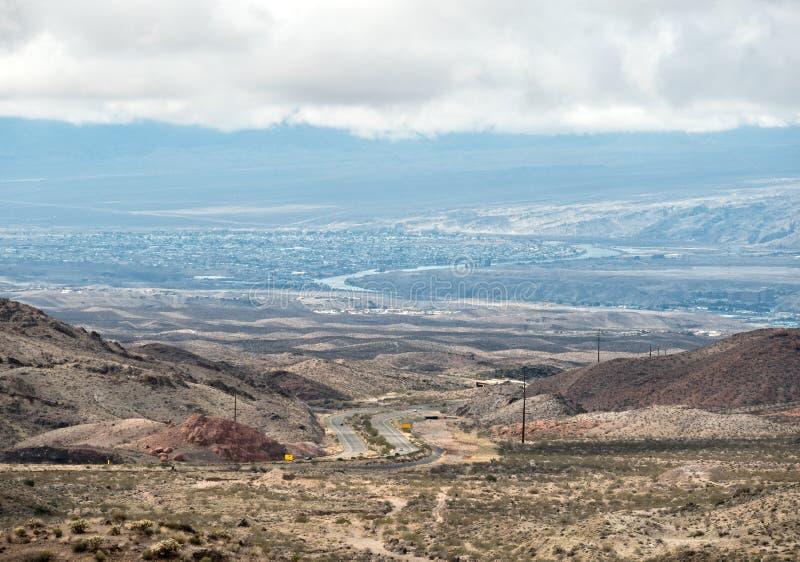 Descenso de paso de la unión en Arizona foto de archivo