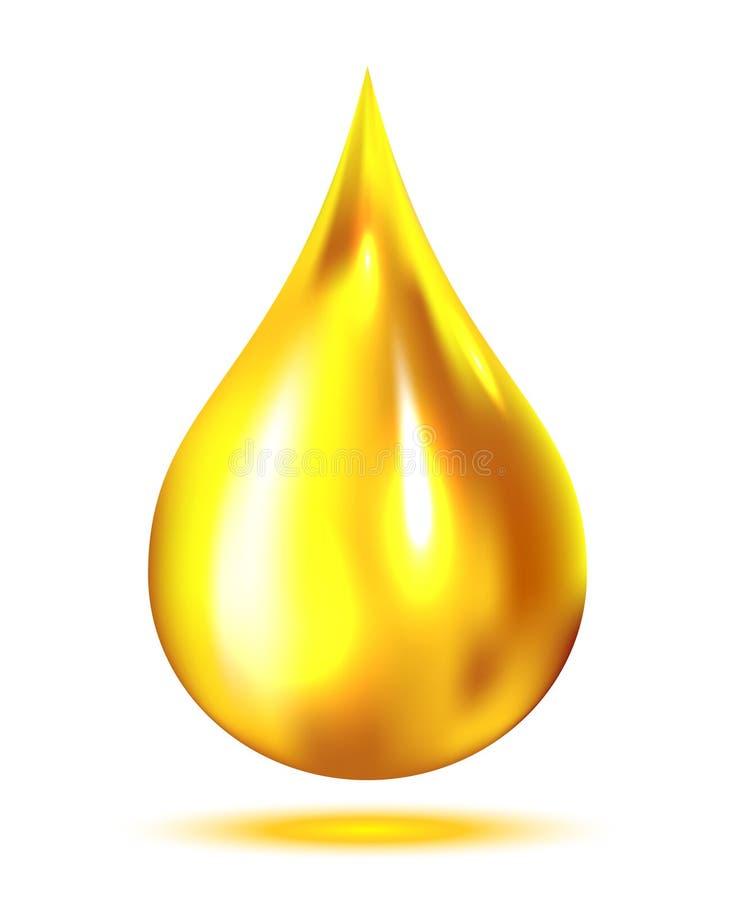 Descenso del aceite stock de ilustración