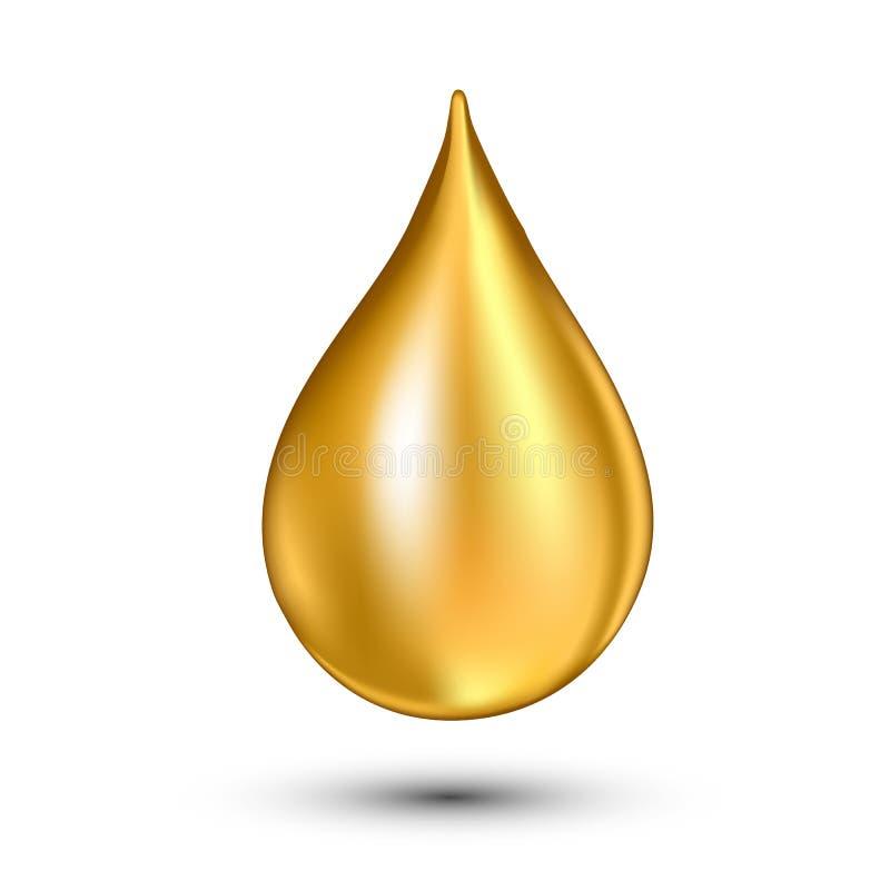 Descenso del aceite, icono del vector Limpie en blanco falling stock de ilustración