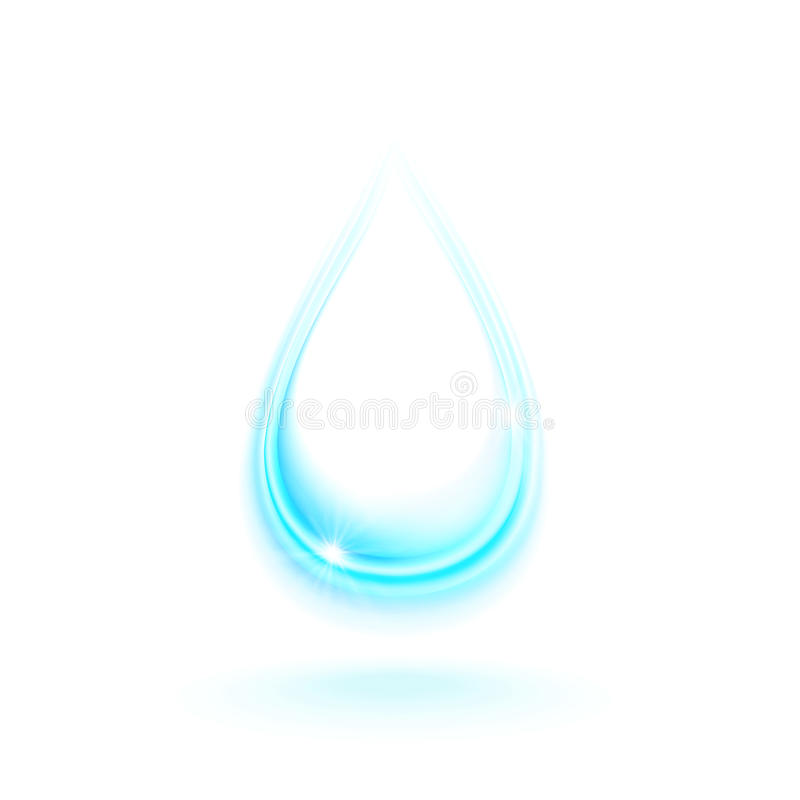 Descenso del agua stock de ilustración