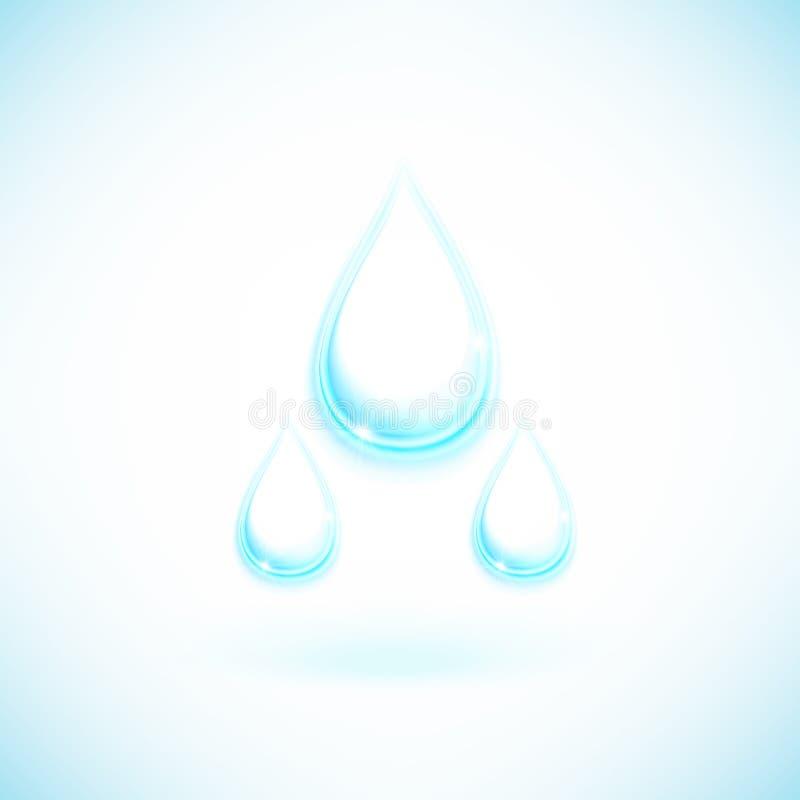 Descenso del agua ilustración del vector