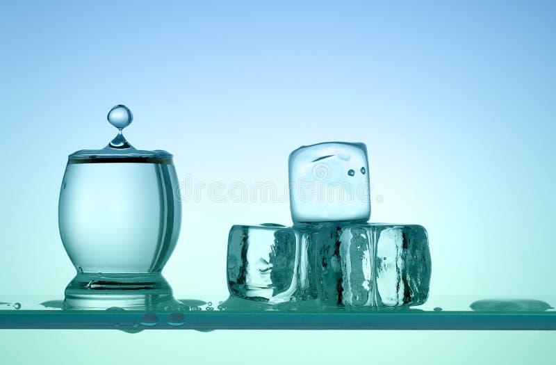 Descenso del agua que baja en el vidrio fotos de archivo libres de regalías
