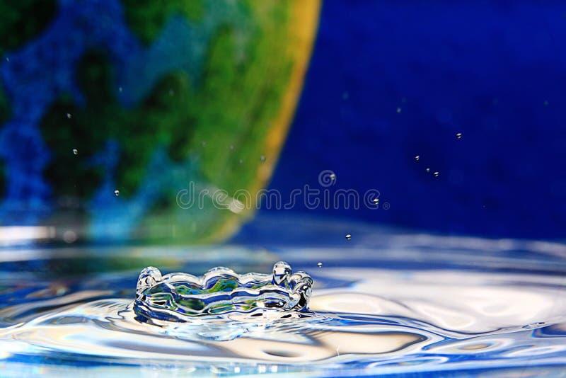 Descenso del primer del agua foto de archivo
