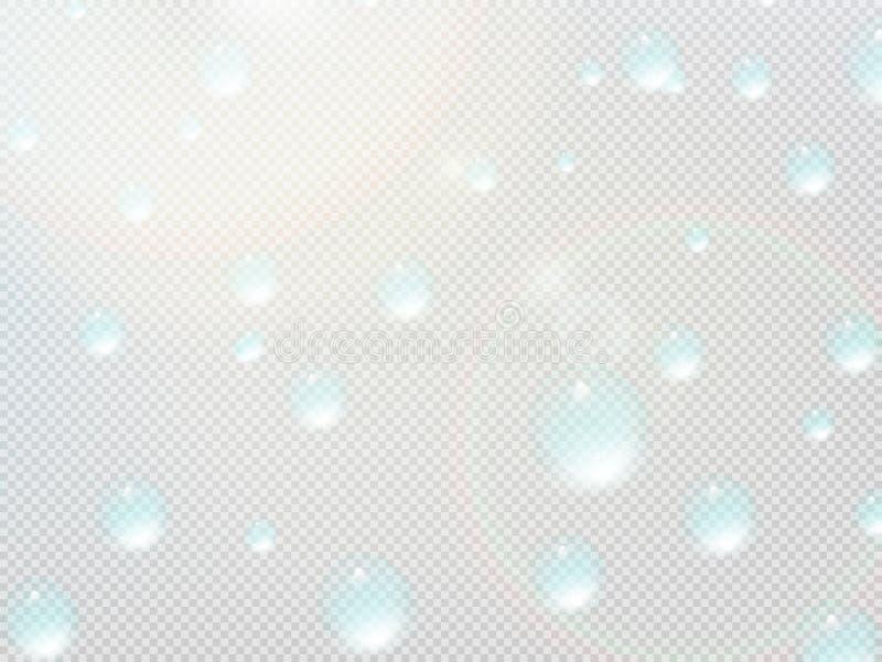 Download Descenso Transparente Del Agua En Rejilla Gris EPS10 Más Ilustración del Vector - Ilustración de fondo, reflexión: 42440056