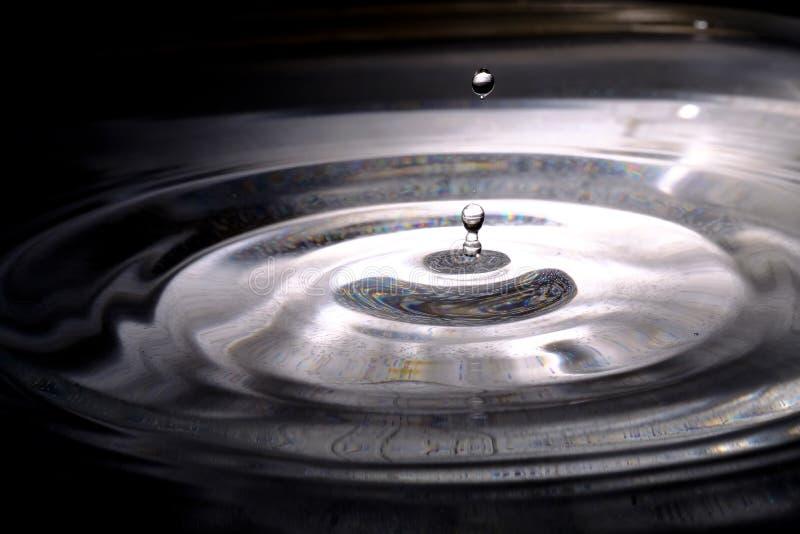 Descenso y spalsh del agua fotos de archivo libres de regalías