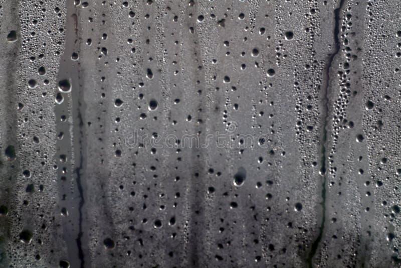 Descensos de la condensación en el abrigo del PVC foto de archivo libre de regalías
