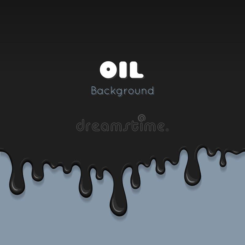 Descensos de la tinta del flujo, aceite del chapoteo libre illustration