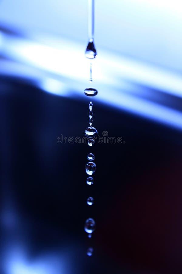 Descensos del agua fotografía de archivo libre de regalías