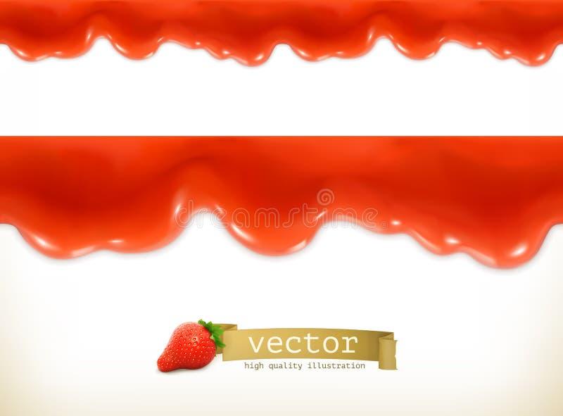 Descensos dulces rojos stock de ilustración