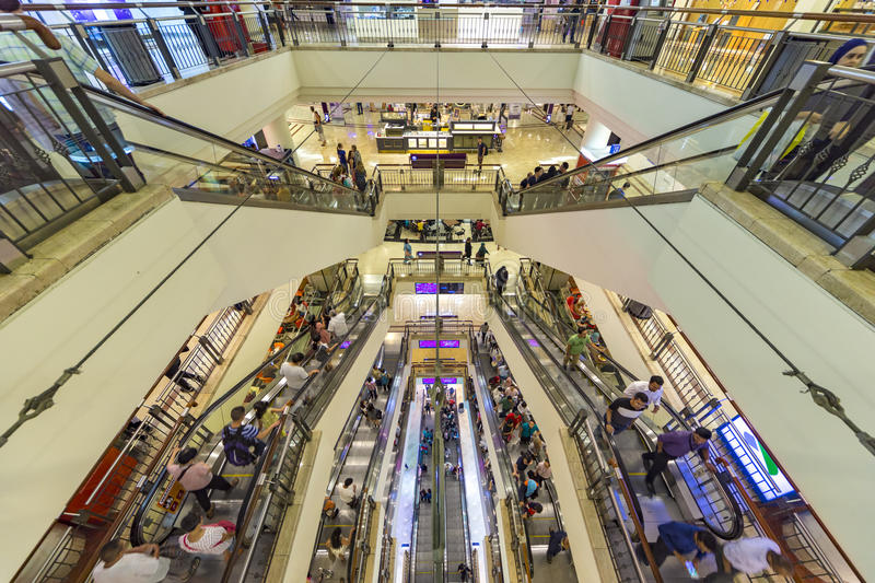 Descent to hell of Shopping malls royalty free stock photography